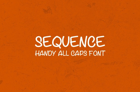 Sequence - A Free Handy All Caps Font Face
