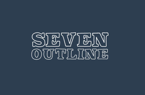 Seven Outline Font