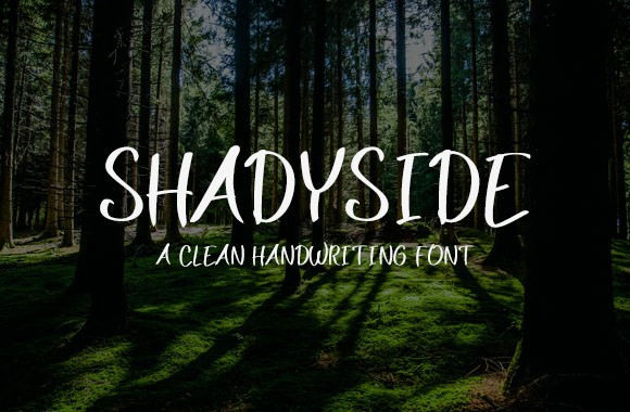 Shadyside Handwriting Font