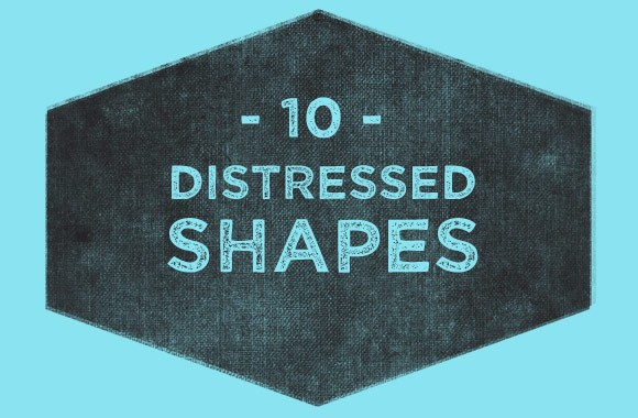 Distressed Badge Shapes PSD