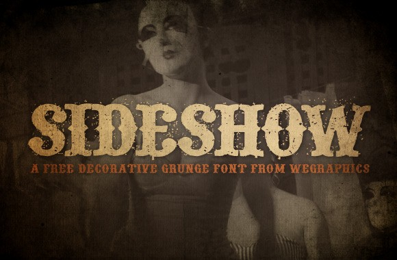 Sideshow - A Free Decorative Grunge Font