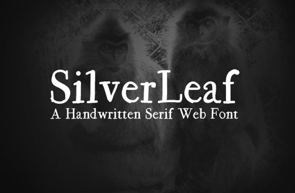 SilverLeaf - A Handwritten Web Font