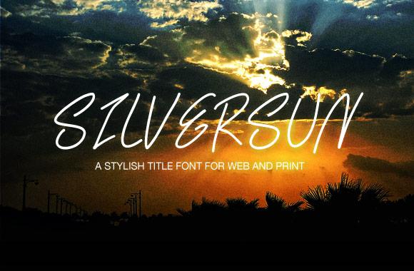 SilverSun - A Handwritten Web Font