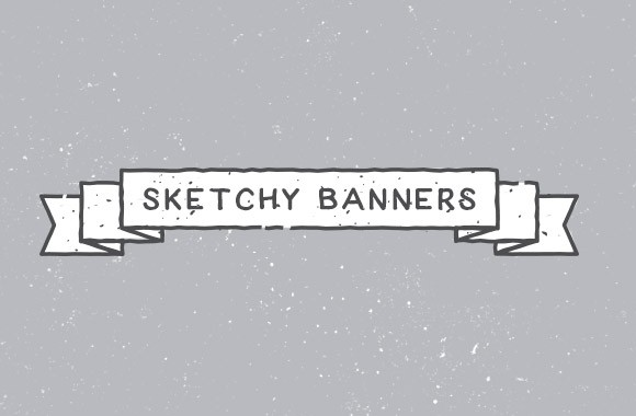 Sketchy Vector Banner Graphics