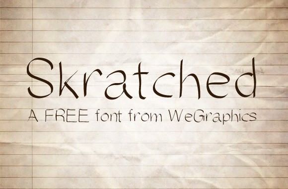 Skratched - A FREE Font from WeGraphics