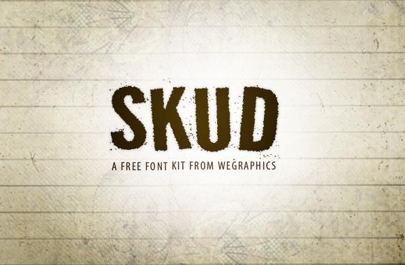 Skud - Free Font Kit