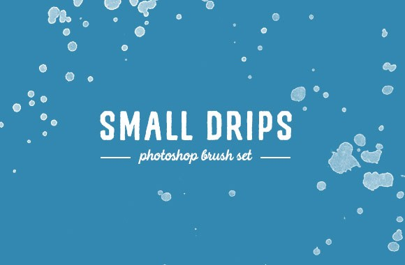 Small Drip Photoshop Brushes