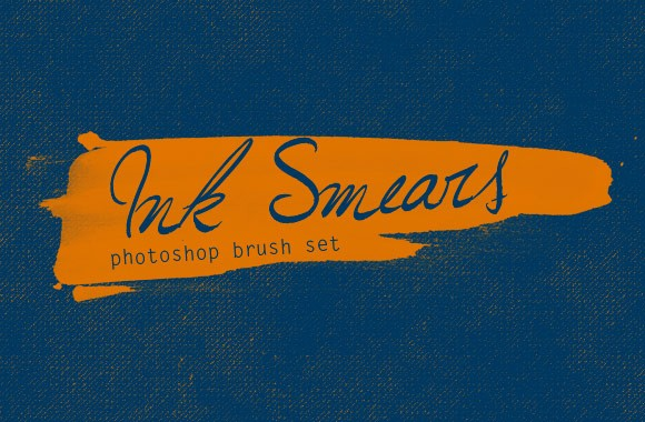 Ink Smears Photoshop Brush Set
