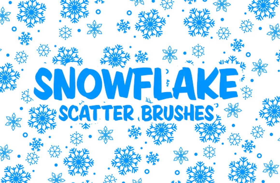 Vector Snowflake Scatter Brushes