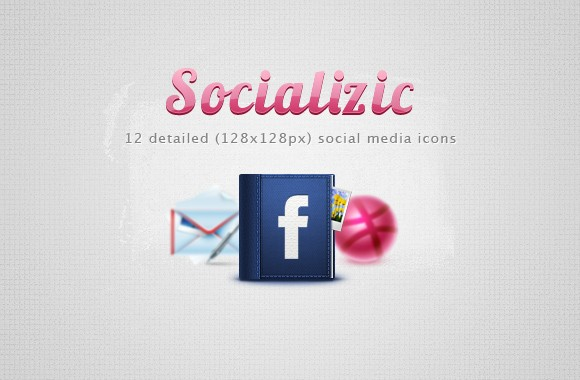 Socializic, free detailed social media icons
