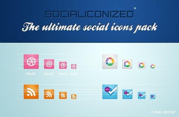 Socialiconized - The ultimate social icons pack