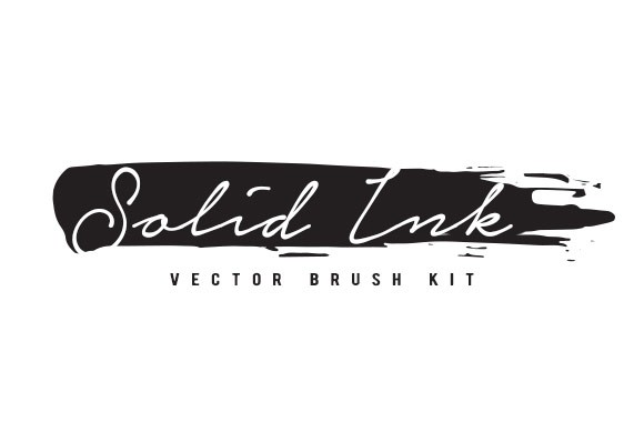 Solid Ink Vector Brushes