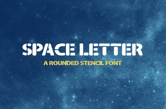 Space Letter - Rounded Stencil Font
