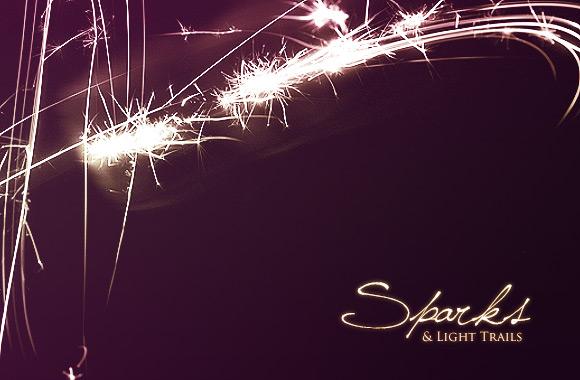 Sparks and Light Trails Brush Set