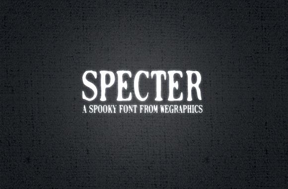 Specter - A Spooky Font Face