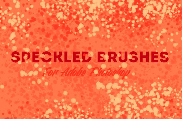 Speckled Photoshop Brush Set
