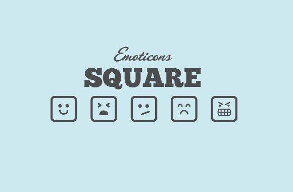 Square Vector Emoticons