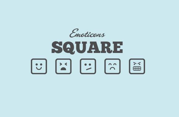 Square Vector Emoticons