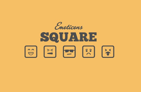 Square Vector Emoticons - Vol 2