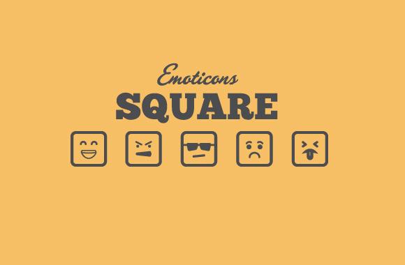 Square Vector Emoticons - Vol 2