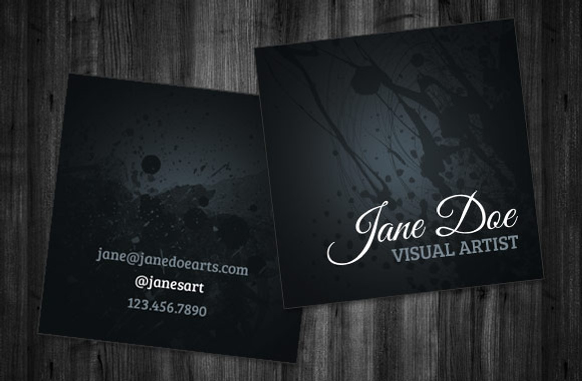Artist Square Business Card Template