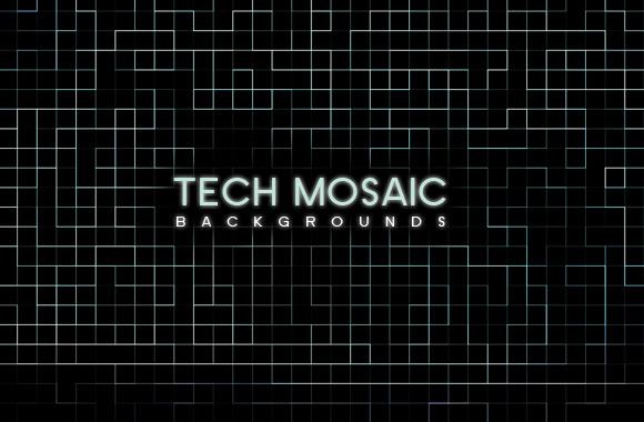 Tech Mosaic Backgrounds