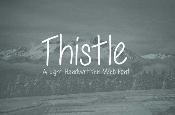 Thistle - A Light Handwritten Web Font