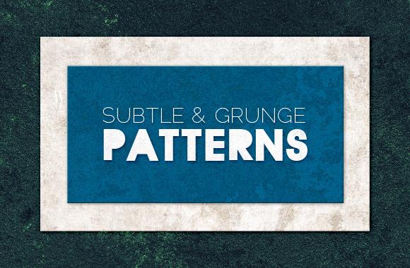 Tileable subtle grunge patterns