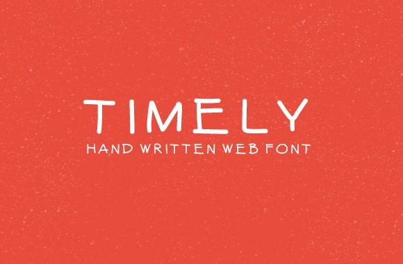 Timely - Hand Written Web Font