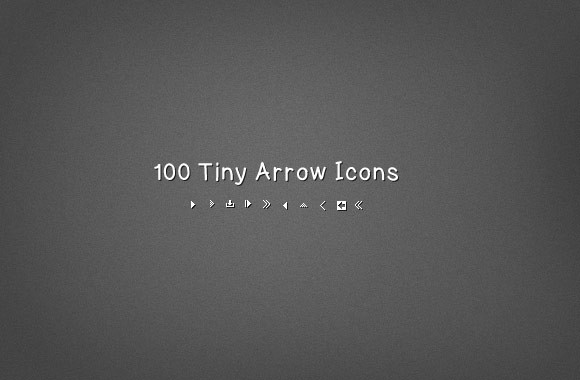 100 Tiny Vector Arrow Icons