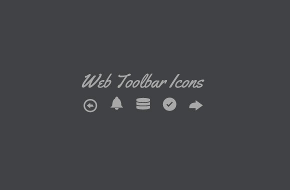 Web Toolbar - Vector Icon Set