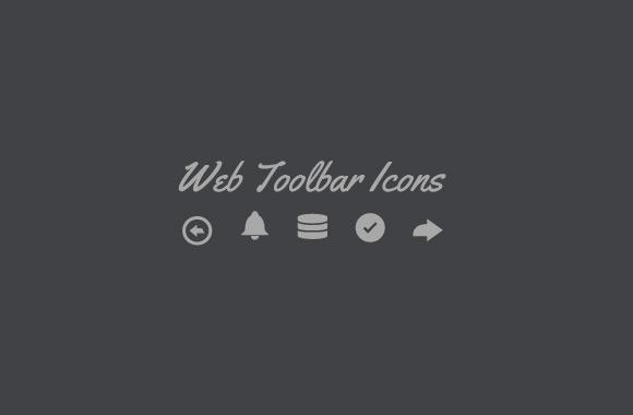 Web Toolbar - Vector Icon Set