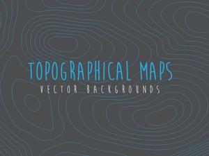 Topographical Map Vectors 1