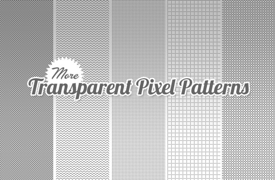 Transparent Pixel Patterns