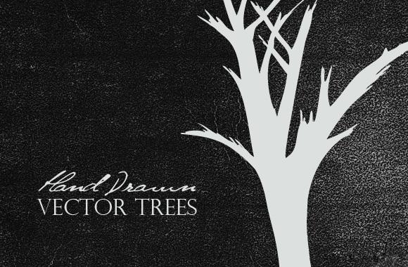 Free Hand Drawn Vector Trees