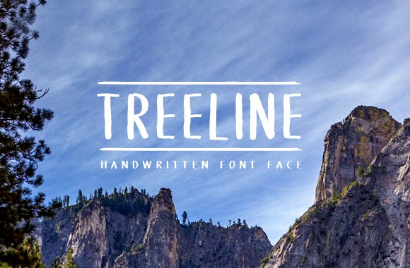 Treeline - Handwritten Font Face