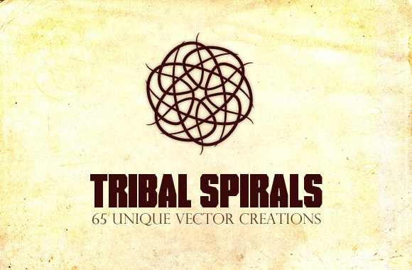 Tribal Spirals - 65 Vector Creations