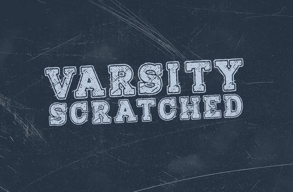 Varsity Scratched Font Face