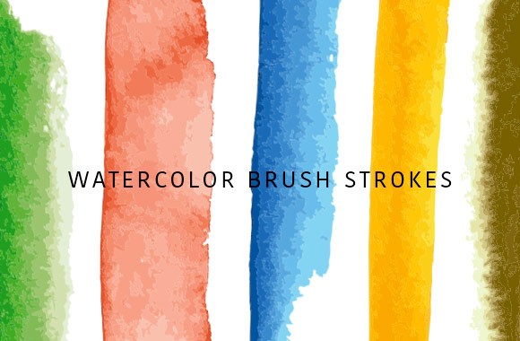 Vector Watercolor Strokes - Art Brushes