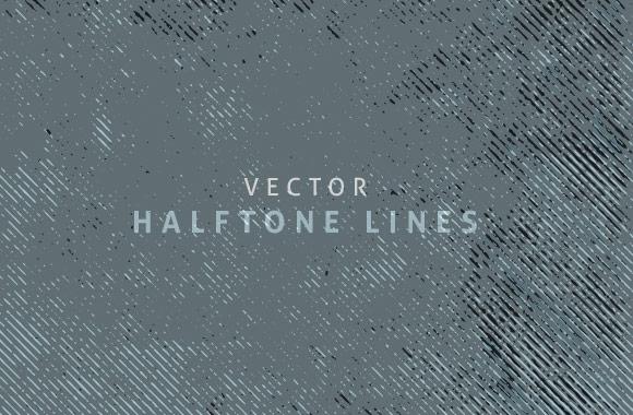 Halftone Vector Lines