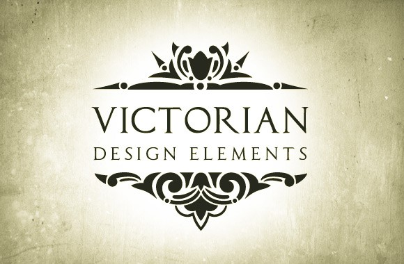 Victorian Era Vector Design Elements