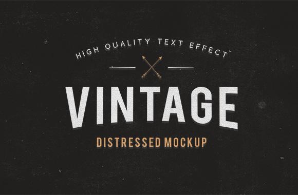 Vintage Distressed Text Mockup