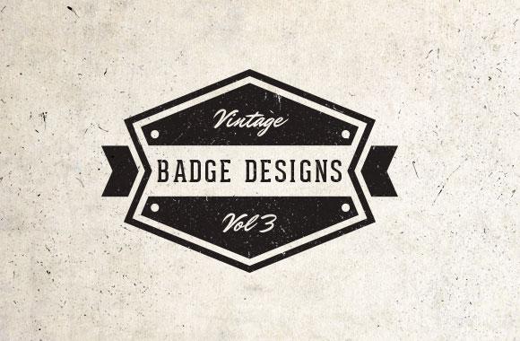 Vintage Vector Badges Vol 3