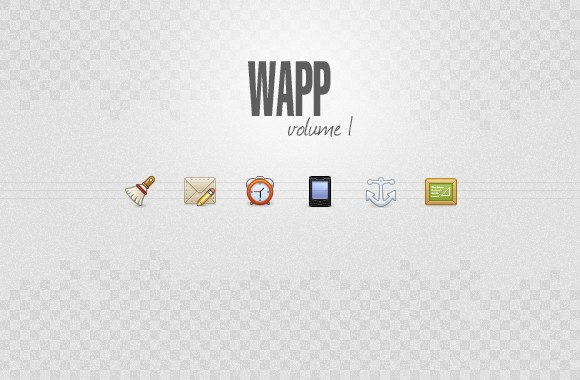 Wapp, an icon set for web apps volume1
