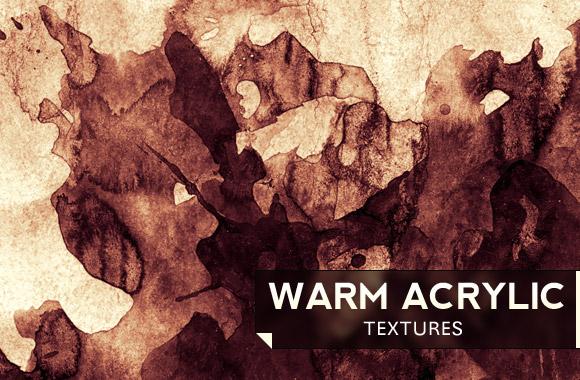 Warm Acrylic Textures