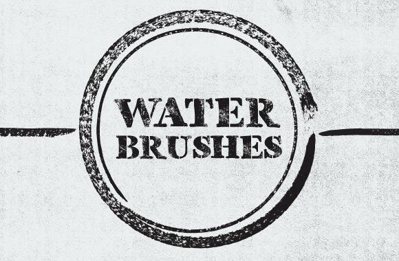 Vector Water Brushes for Illustrator