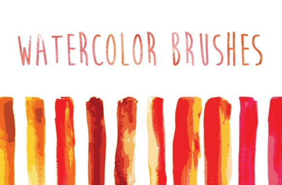 Watercolor Brushes for Adobe Illustrator