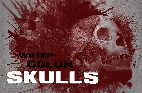 Watercolor Skulls