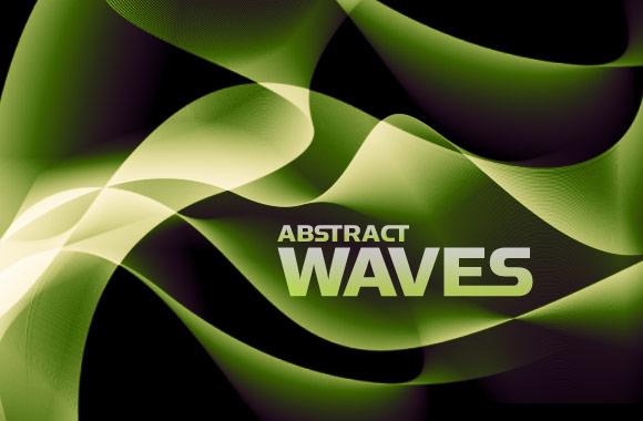 Abstract Waves Photoshop Brush Set
