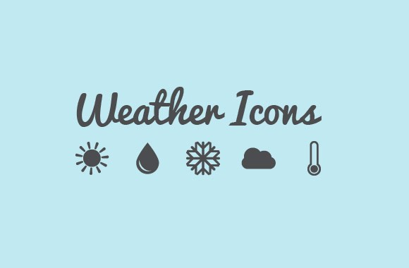 Simple Vector Weather Icons Pack